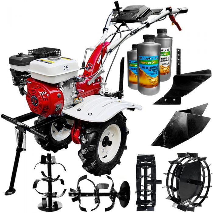 pachet motocultor profesional 7100 cf 7 cp transmisie fonta pinioane freza 1